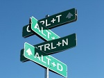 QlikView Shortcut – Featured Image Thumbnail – Street Signs with Windows Shortcuts