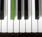 QlikView Music Player – Featured Image Thumbnail – Piano with a Green Key
