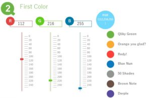 QlikView Color Sequence - QlikView Slider used to adjust the start and end colors